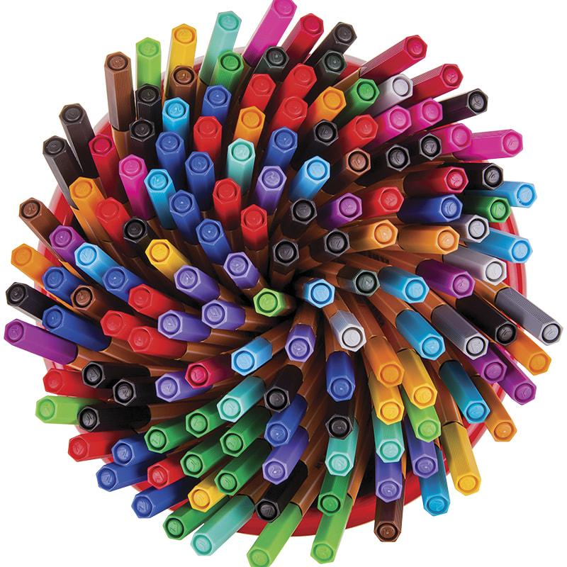 Ручка капилярная Stabilo 0,4мм 47цв. 150шт в горшке