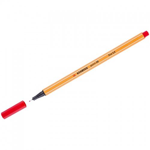 Ручка капилярная Stabilo 0,4мм Point 88 красная