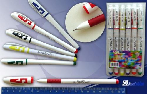 Ручки гел. в наборе J.Otten бел. корпус  6 цв.