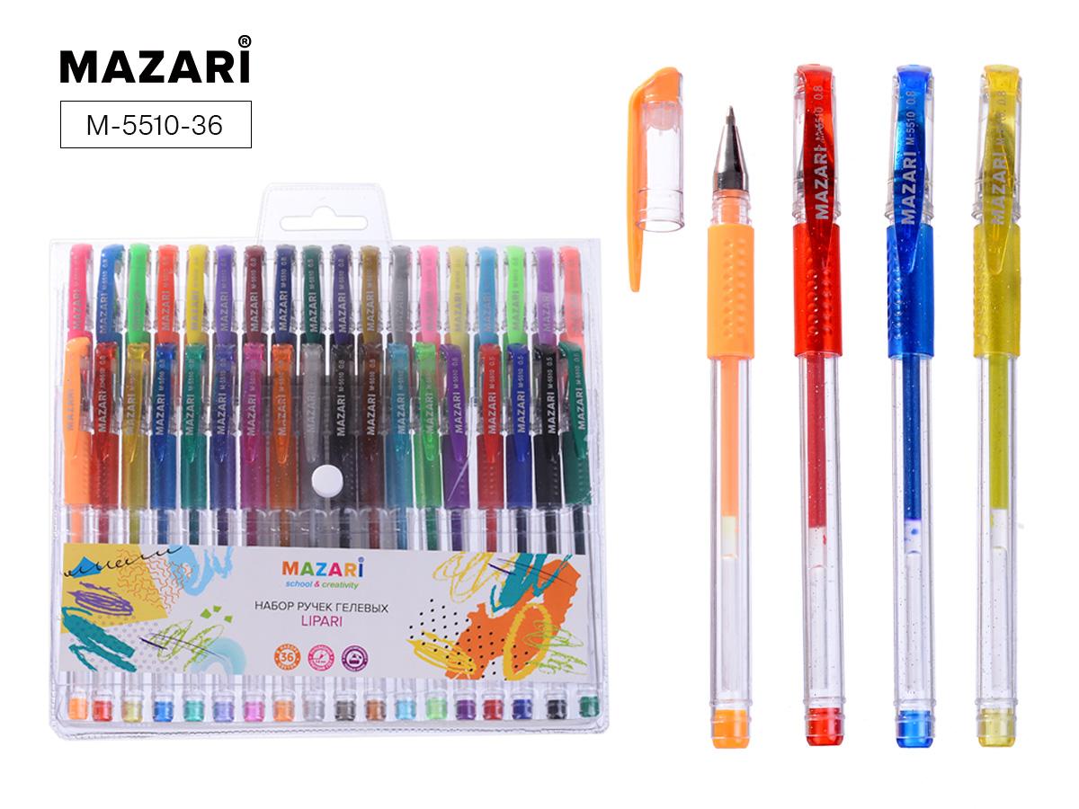 Ручки гел. в наборе Mazari 36цв. Lipari