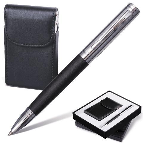 Набор Galant ручка+визитница черный
