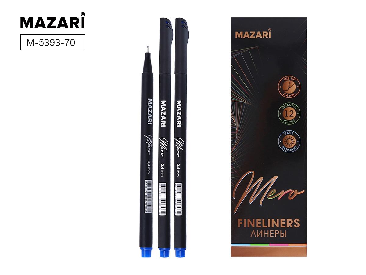 Линер Mazari MERO 0,4 мм трехгранный корпус синий