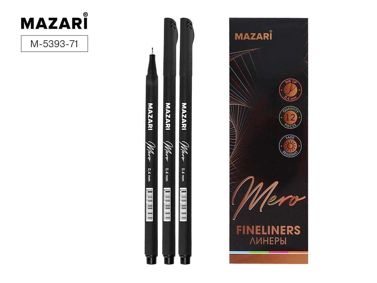 Линер Mazari MERO 0,4 мм трехгранный корпус черный