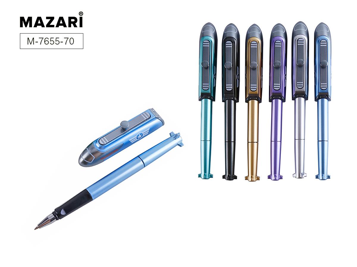 Ручка Mazari Helicopter 0,7мм синяя ассорти