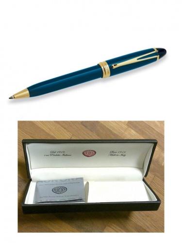 Ручка Aurora Ipsilon De Luxe син.корп. позолота