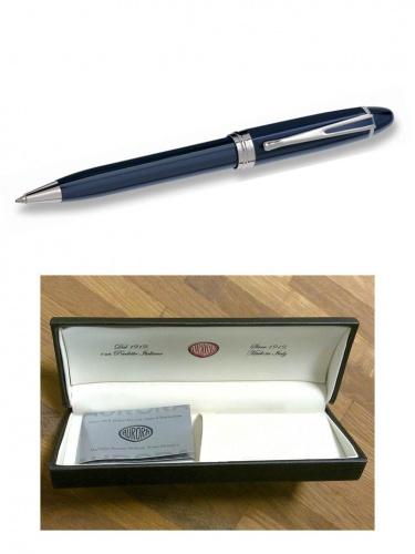 Ручка Aurora Ipsilon De Luxe син.корп. хром