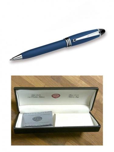 Ручка Aurora Ipsilon син.корп. хром лак