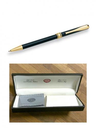 Ручка Aurora Magellano черн.корп. позол.