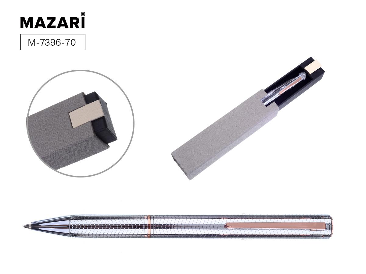 Ручка Mazari поворот.мех. Afina 0,7мм серебро мет.корпус синяя