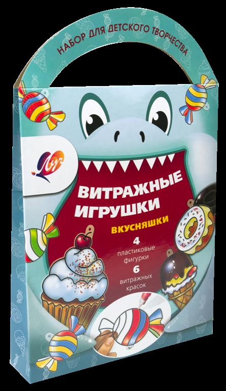 """Краски витражные с трафаретом """"Вкусняшки"""""""