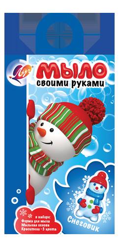 "Набор д/творч. изготовл. мыла ""Снеговик"""