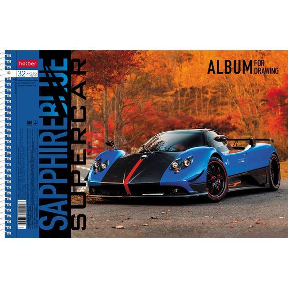 "Альбом д/рис. 32л Хатбер спир. перф. ""BLUEsupercar"""