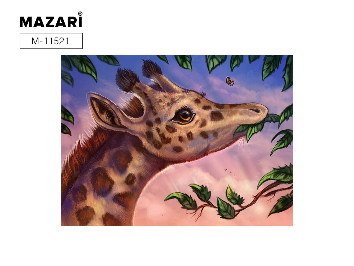 Алмазная мозаика 25*30см Жираф холст част.выкл.