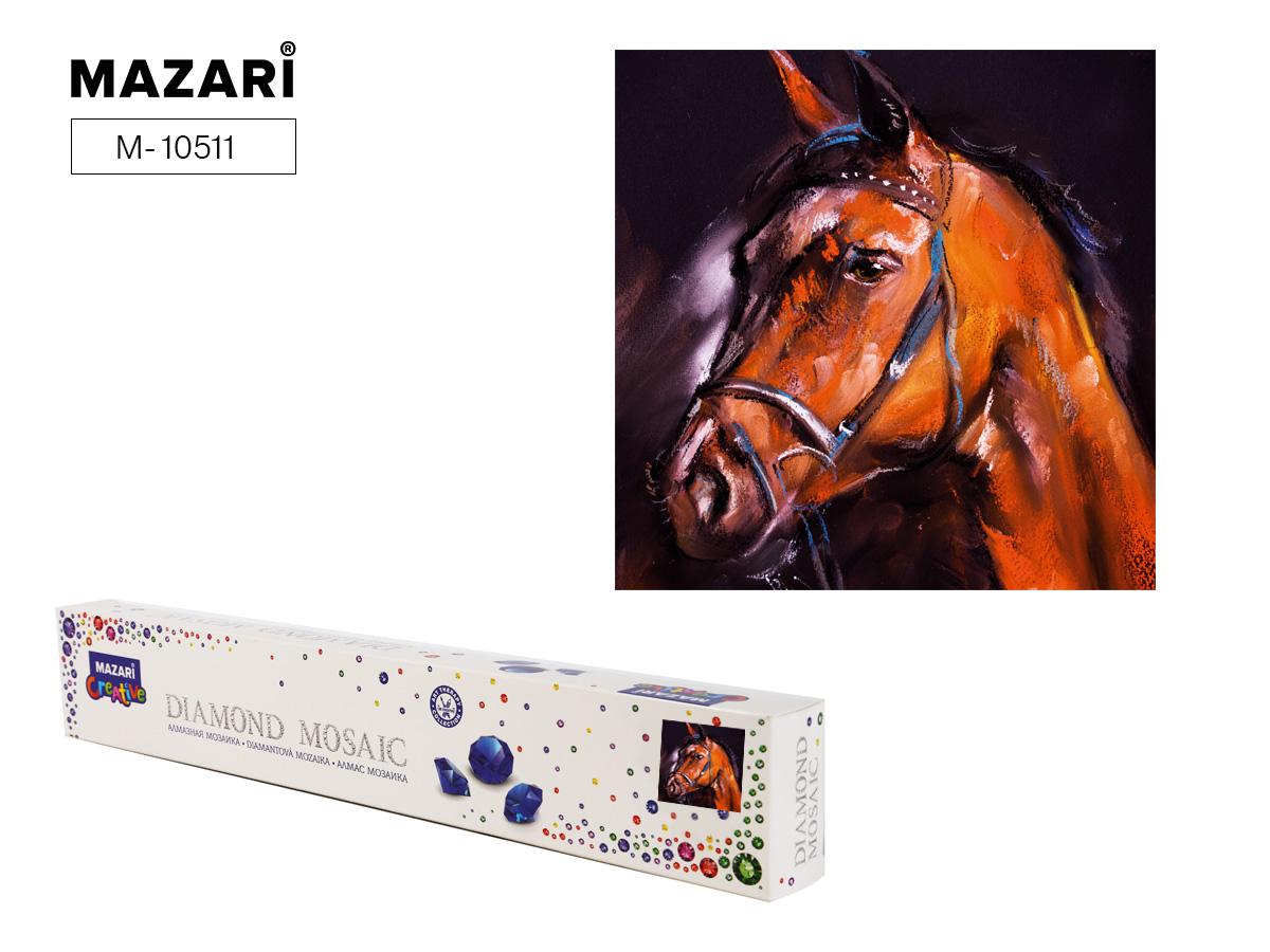 Алмазная мозаика 30*30см Лошадь холст