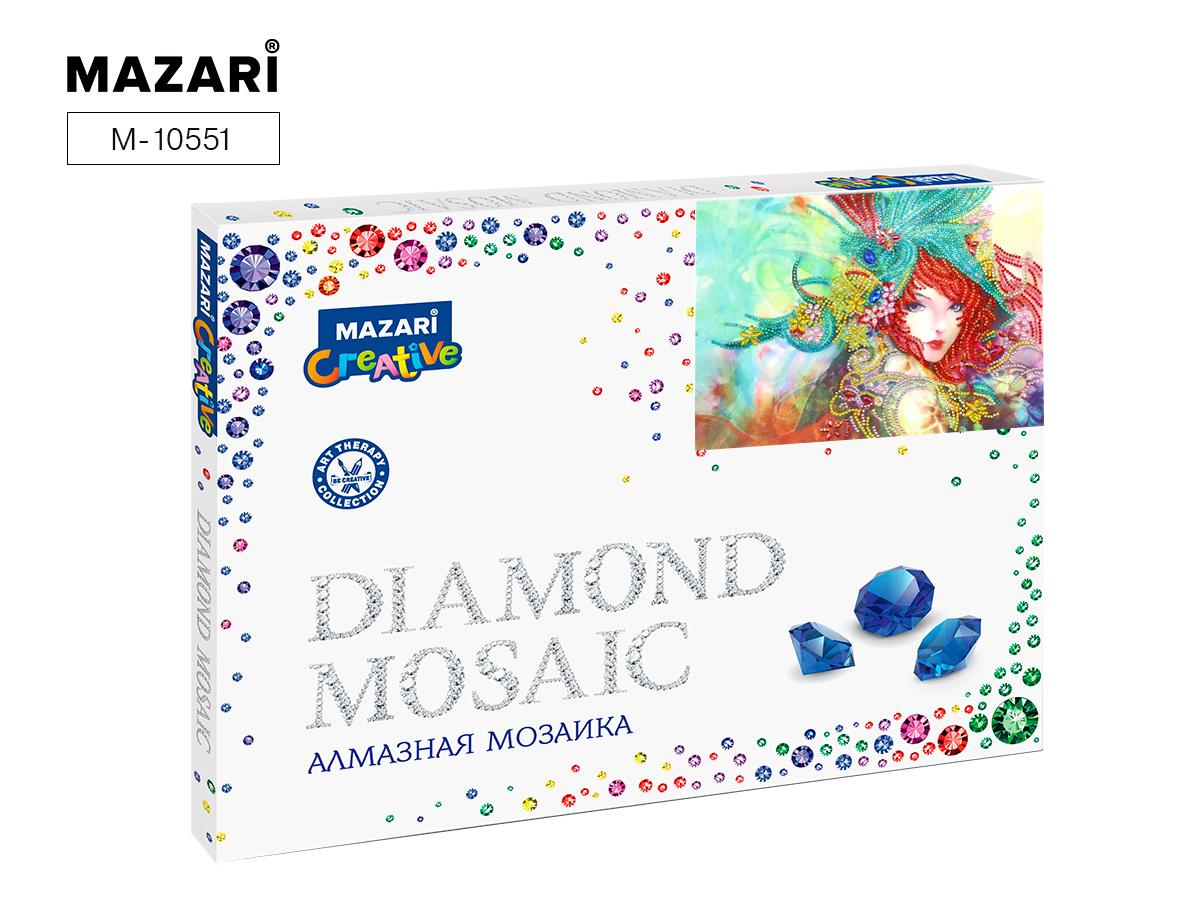 Алмазная мозаика 30*40см Девушка в ярких красках част.выкл.