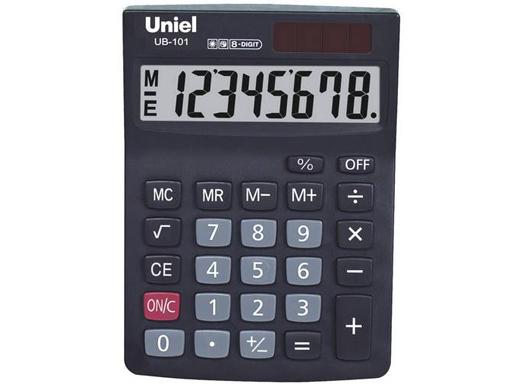 Калькулятор наст. Uniel UB-101  8-разр. 142*101мм