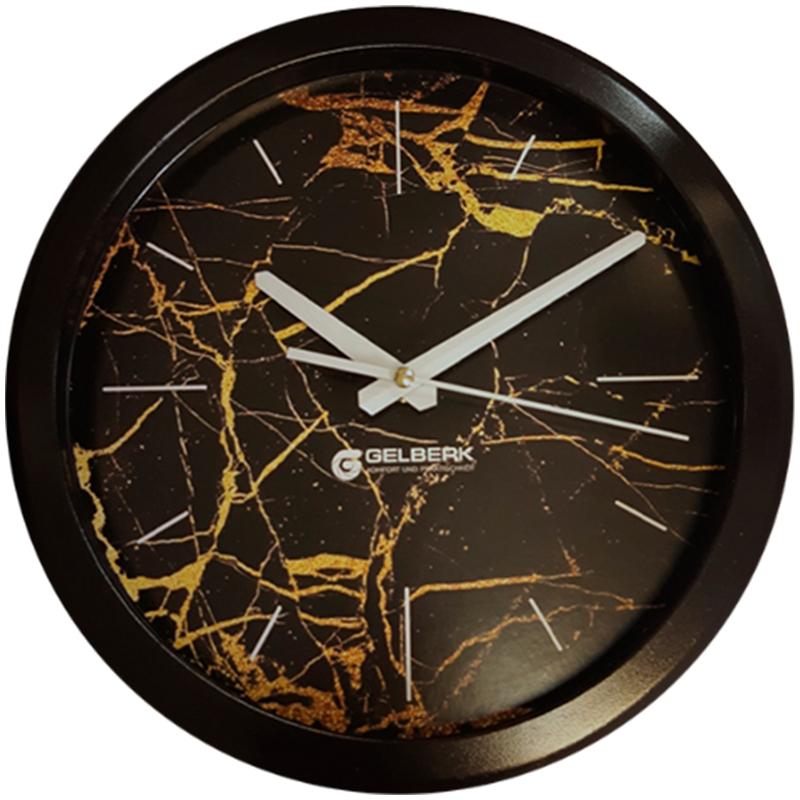 Часы настен. Gelberk круглые 28см коричневый