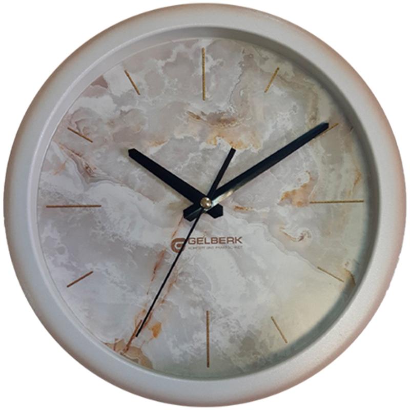 Часы настен. Gelberk круглые 28см мрамор
