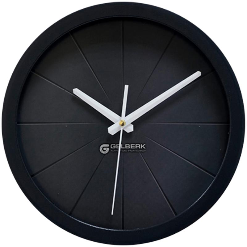 Часы настен. Gelberk круглые 28см черный