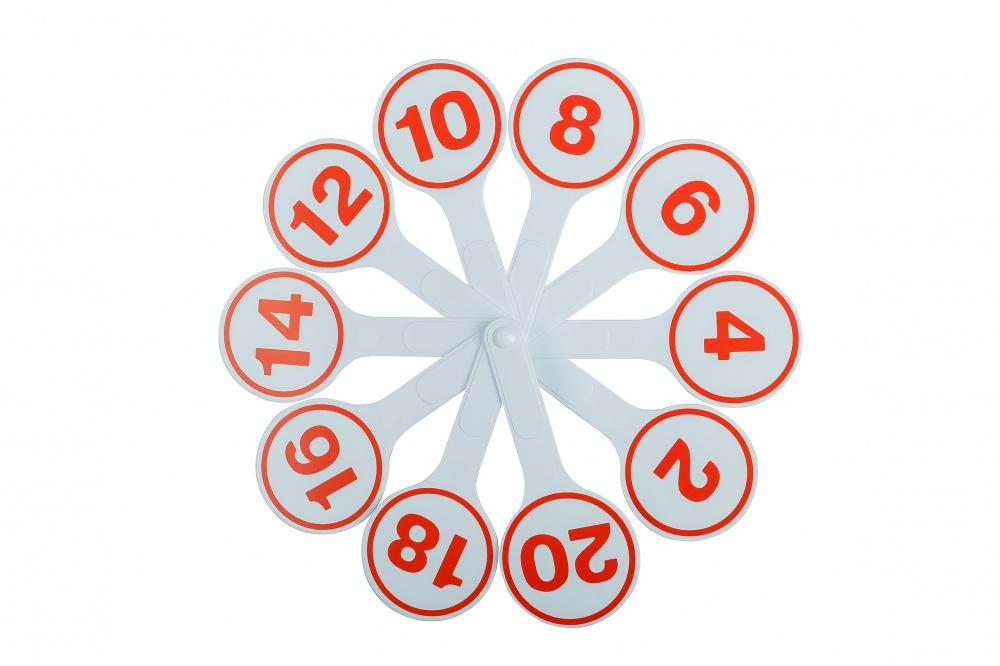 Веер (касса) цифр 1-20 Глобус