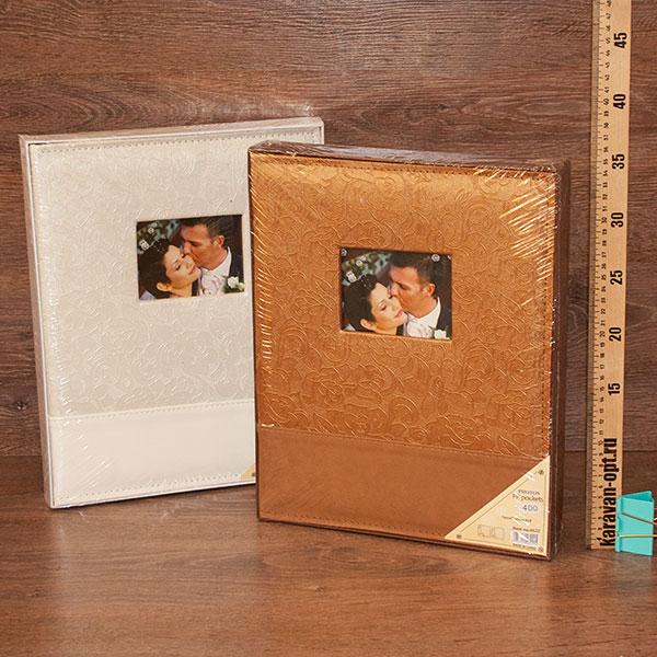 фотоальбом 400 фото под кожу с окошком 2вида