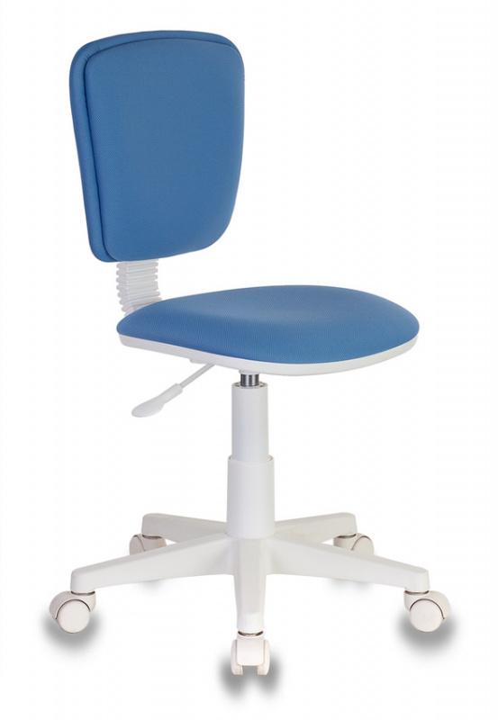 Кресло детское Бюрократ CH-W204NX синий пласт.белый