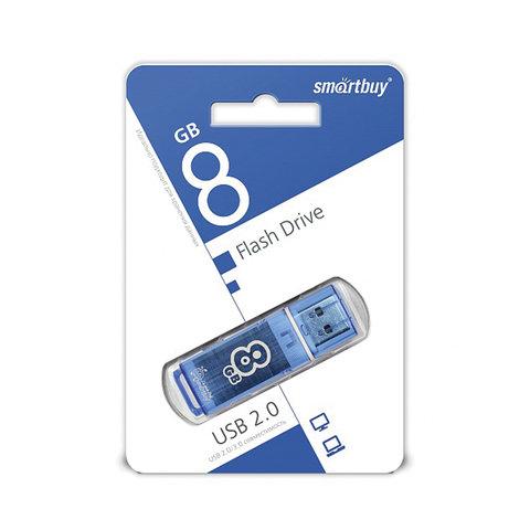 "Флэш-диск Smart Buy  8GB ""Glossy"" голубой"