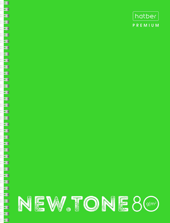 Тетр. А4  80л Хатбер гр. глянц.лам. Neon Лайм