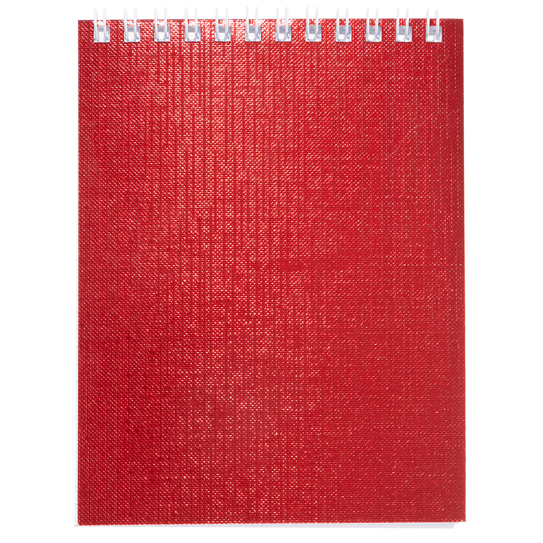 Блокнот А6 40л Хатбер гр. бумвинил METALLIC красный