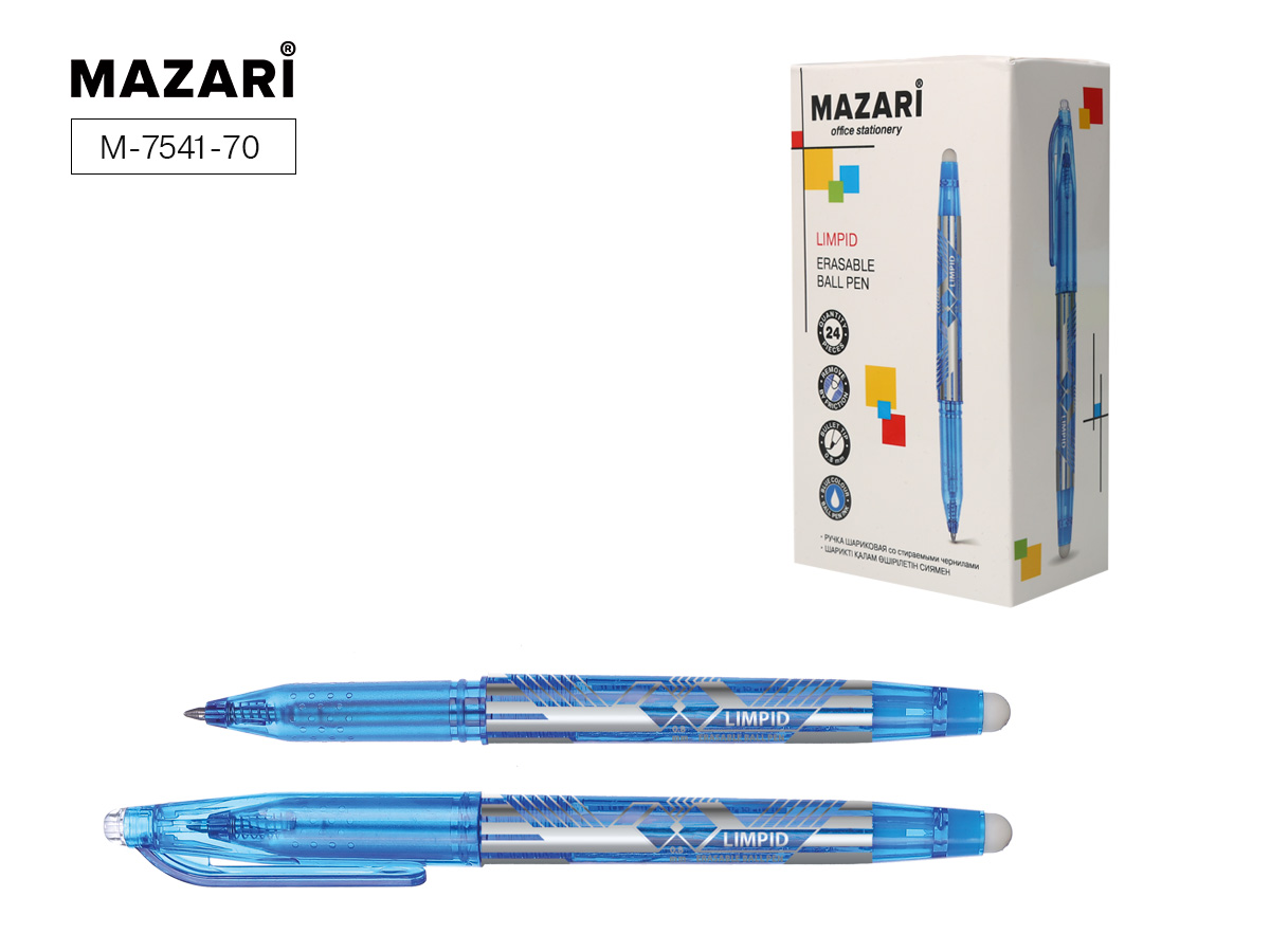 Ручка коррект. Mazari Limpid 0,8мм синяя