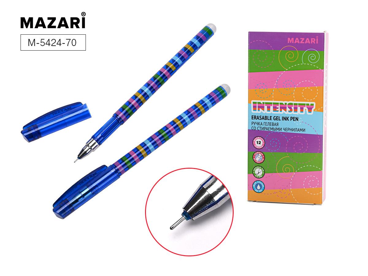 Ручка коррект. гел. Mazari Intensity 0,5мм игол.нак. син.