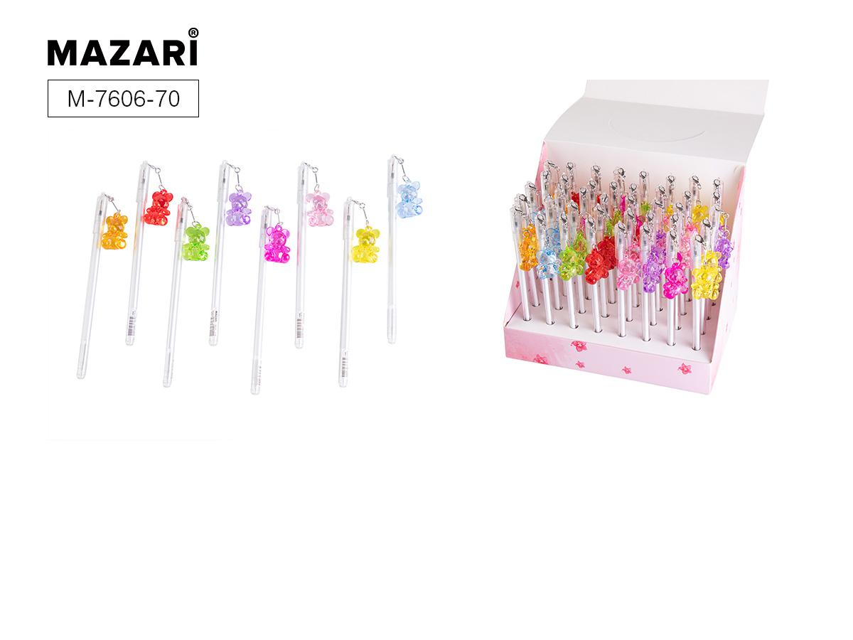 Ручка Mazari Bear+ 0,7мм синяя