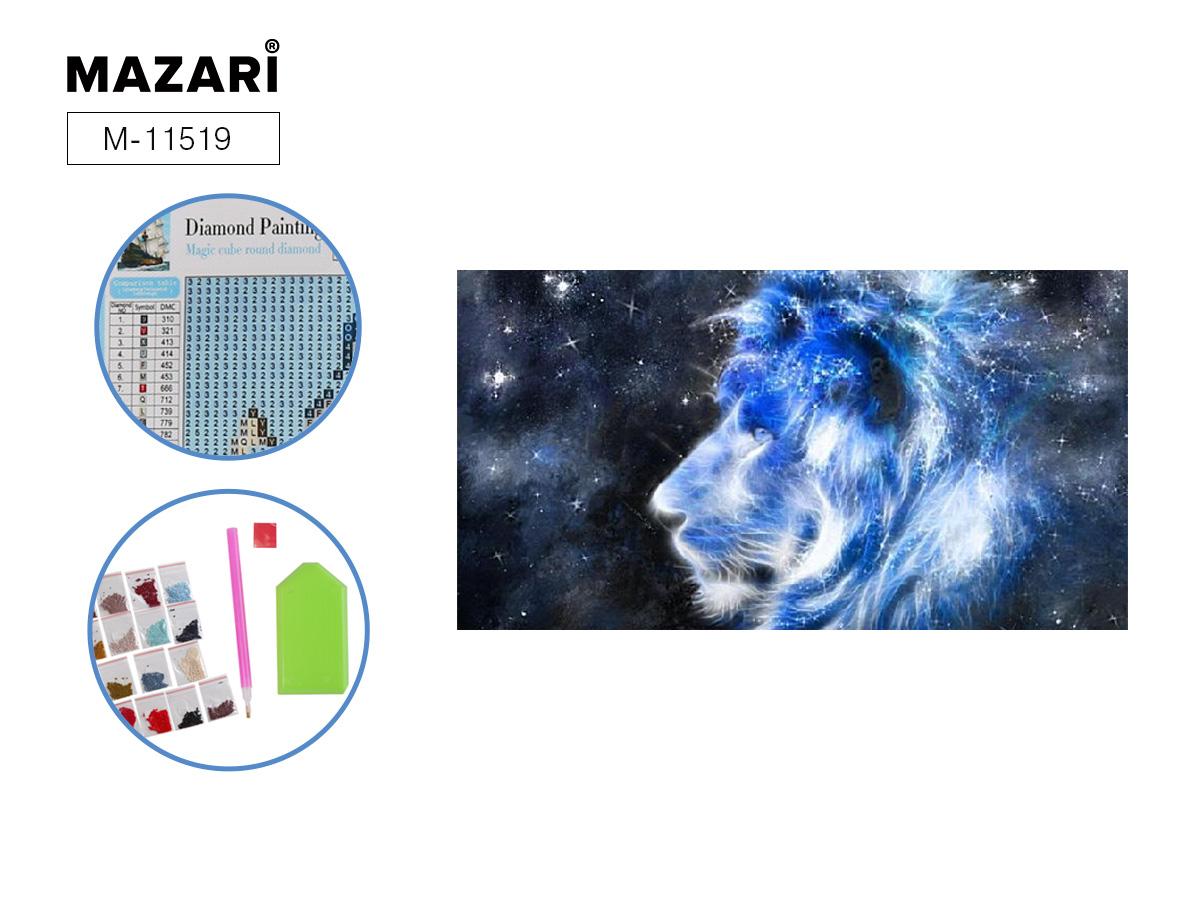 Алмазная мозаика 25*30см Звездный лев