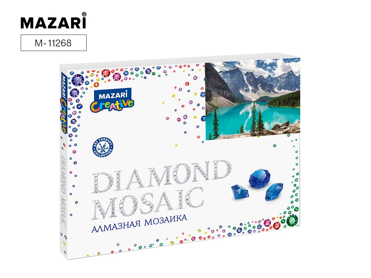 Алмазная мозаика полная выкладка 40*50см Горное озеро