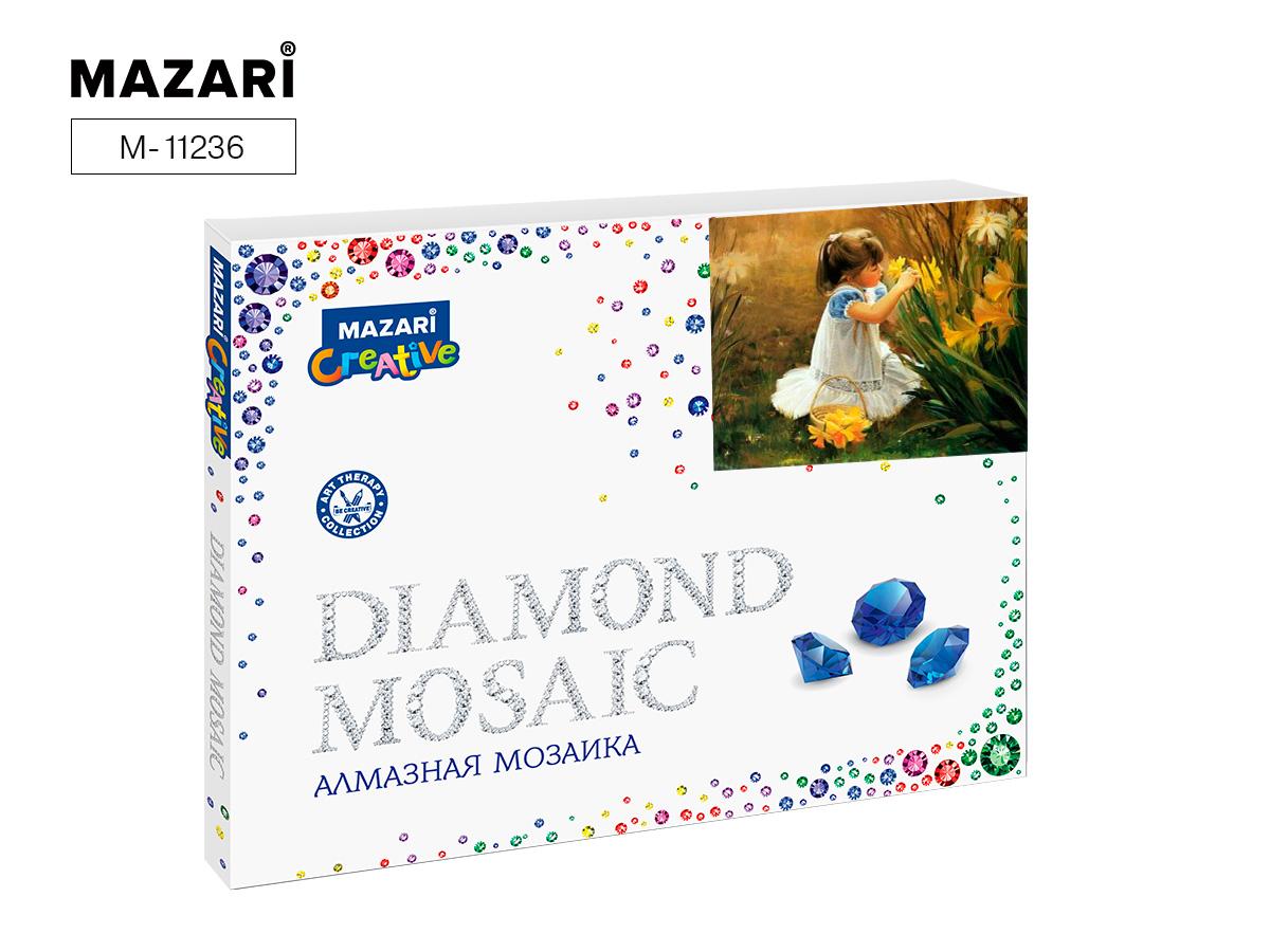 Алмазная мозаика полная выкладка 40*50см Девочка в лесу