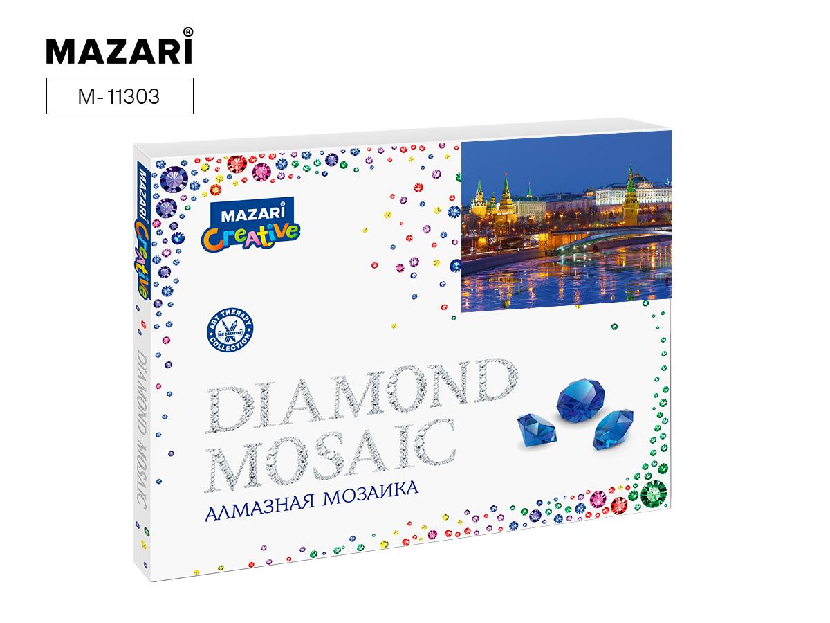 Алмазная мозаика полная выкладка 40*50см Московский Кремль-1