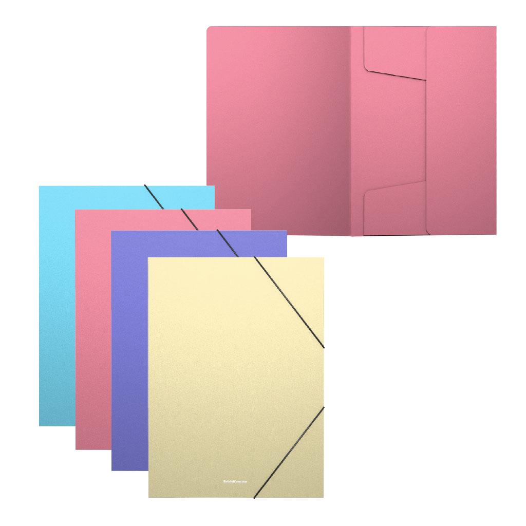 Папка на резинках ErichKrause А5+ Matt Pastel ассорти