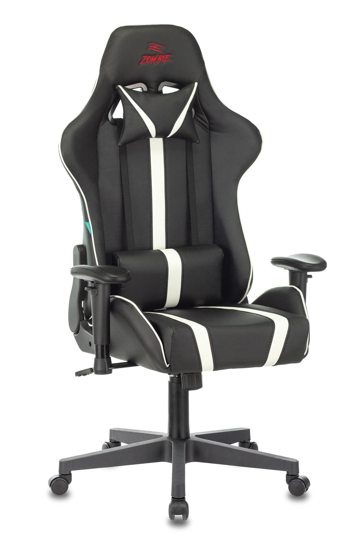 Кресло игровое Zombie VIKING ZOMBIE A4 к/зам. черный/белый