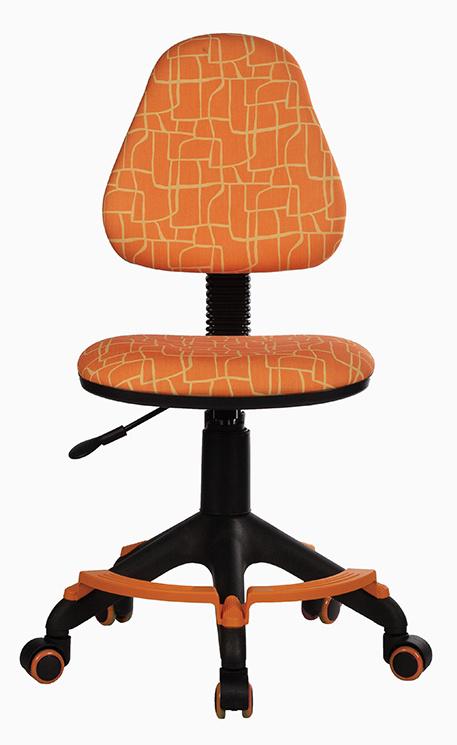 Кресло детское Бюрократ KD-4-F оранжевый жираф с подставкой для ног