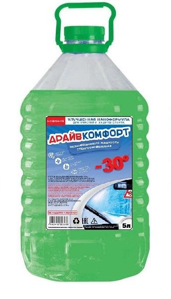 Жидкость стеклоомывающая Драйв Комфорт 5л зеленая