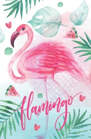 "Блокнот А7 48л Хатбер скл. ""Фламинго"""