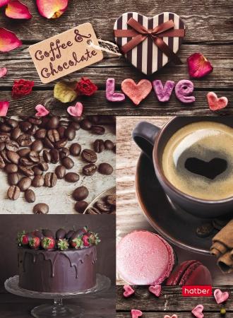 """Бизнес-блокнот А6 160л Хатбер интегр. лайт """"Coffee& chocolate"""""""