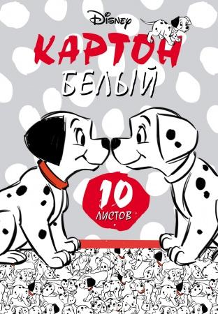"""Картон белый А4 10л Хатбер в папке """"Далматинцы""""(DISNEY)"""
