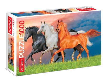 """Пазл 1000 эл. 680*480мм Хатбер """"Красивые лошади"""""""