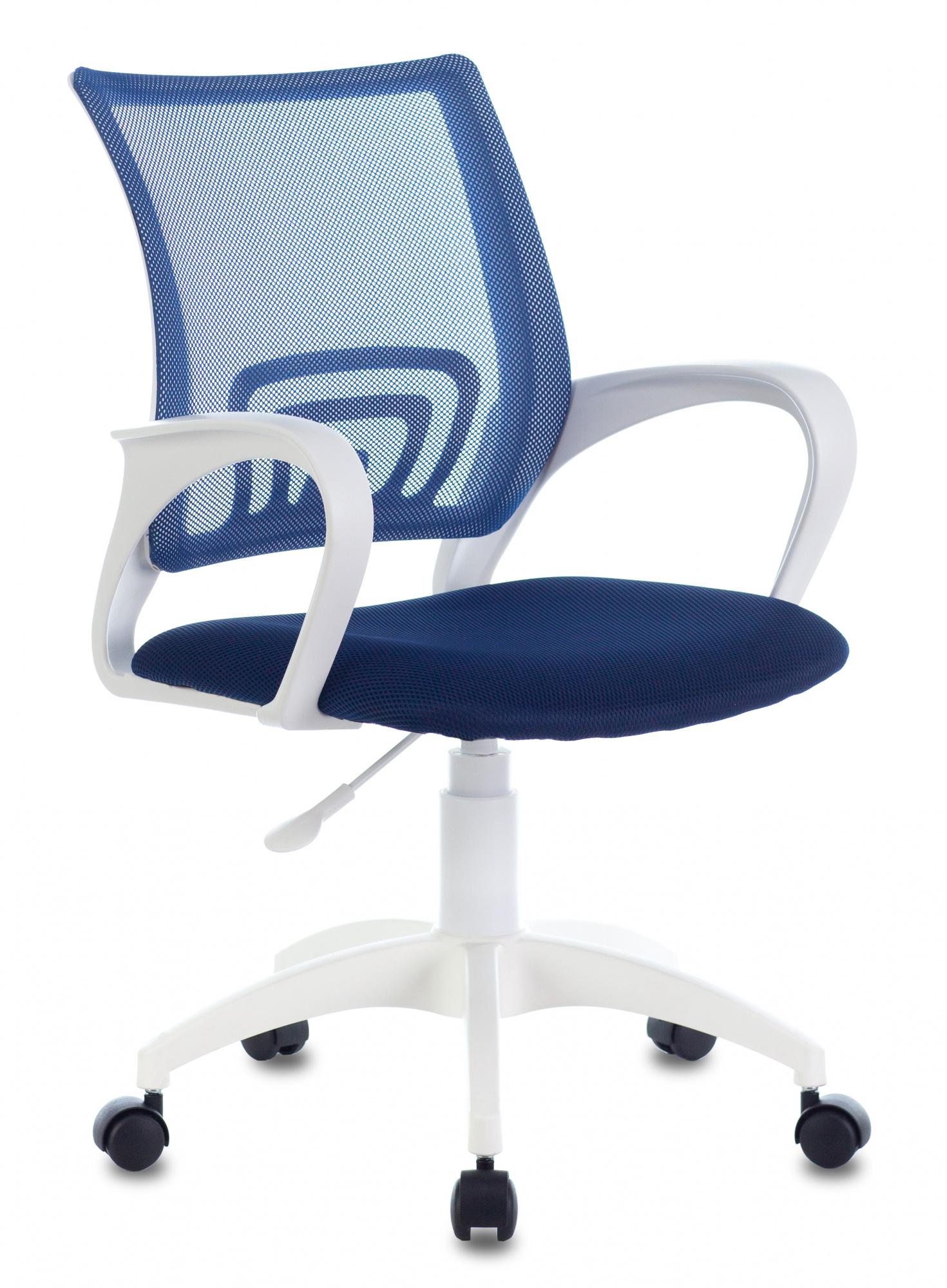 Кресло Бюрократ CH-W695NLT темно-синий TW-05N TW-10N сетка/ткань крестовина пластик пластик белый