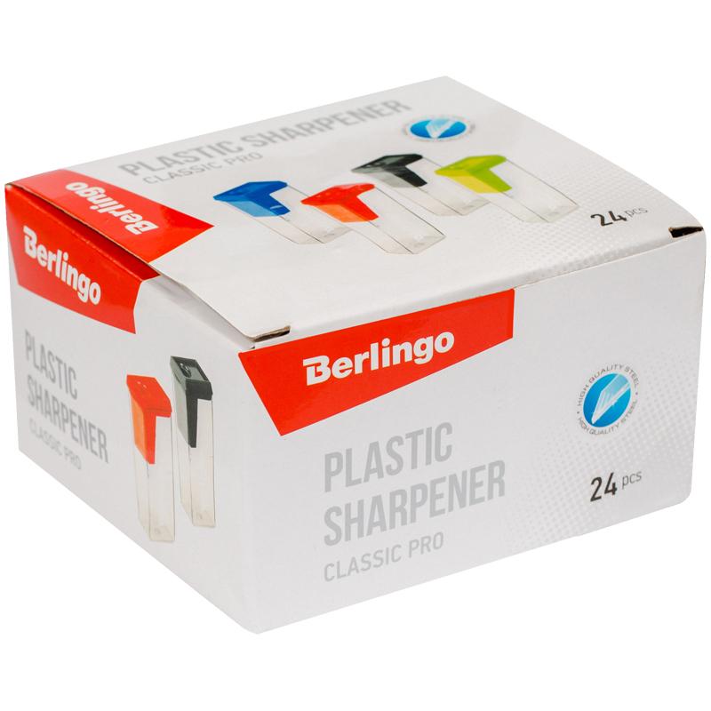 Точилка Berlingo Classic Pro пласт. конт. ассорти