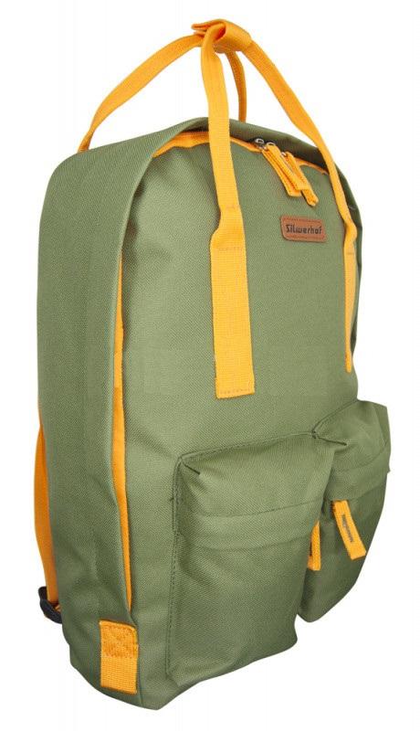 Рюкзак Silwerhof Cube оливковый/оранжевый