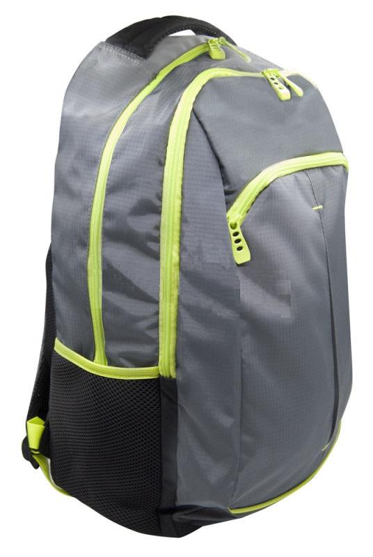 Рюкзак Silwerhof Power серый/зеленый неоновый