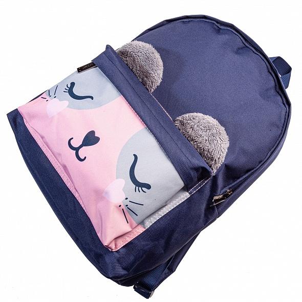"""Рюкзак Хатбер BASIC """"Розовый котик"""" 1 отд. 1 карман"""