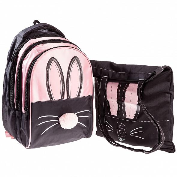 "Рюкзак Хатбер STREET ""Bunny"" 3 отд. + сумка-шоппер"